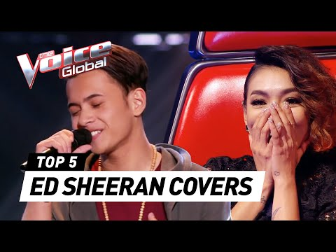 The Voice | BEST ED SHEERAN Blind Auditions [PART 2]