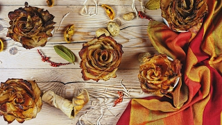 Baked Potato Roses With Bacon And Cheese