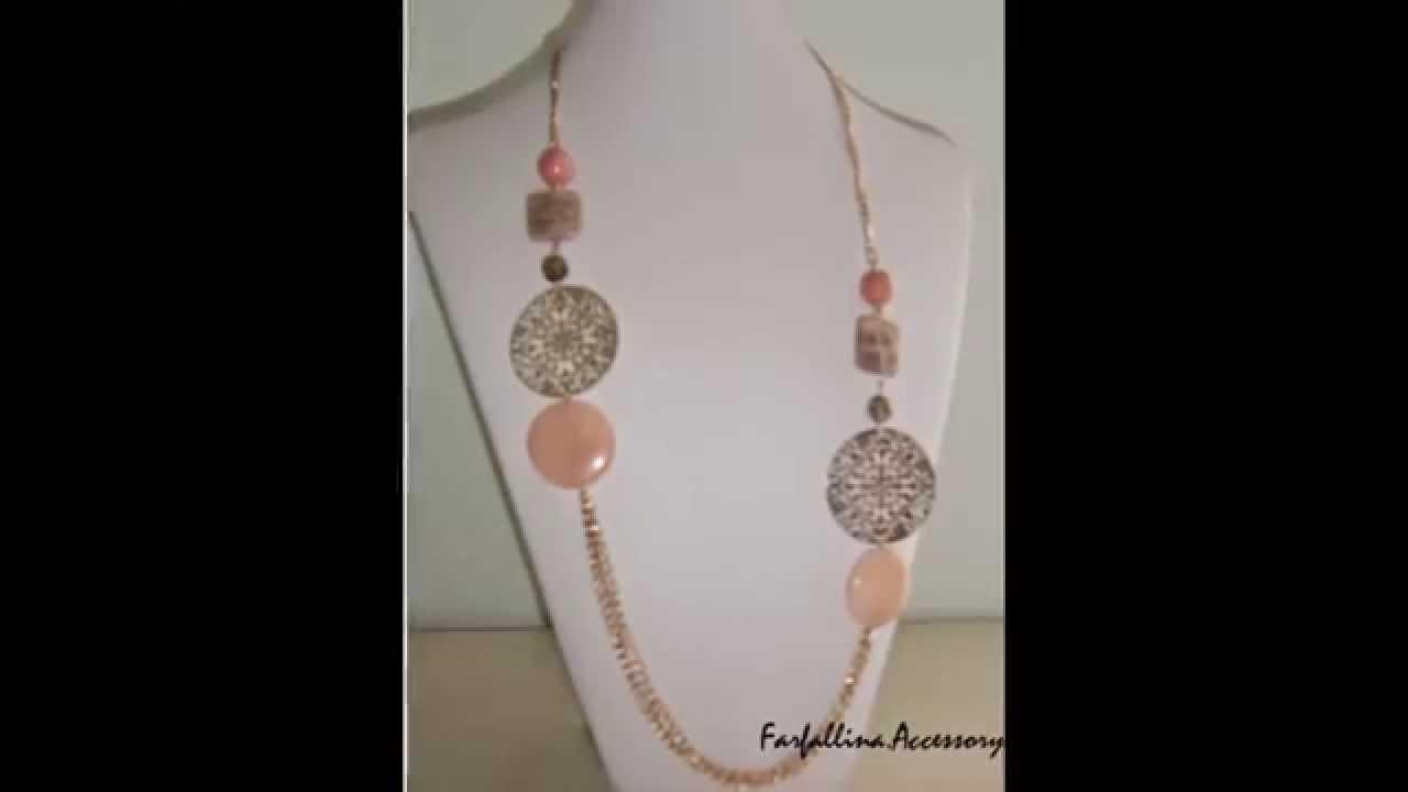 Molto Nuove collane con pietre dure - YouTube DF31