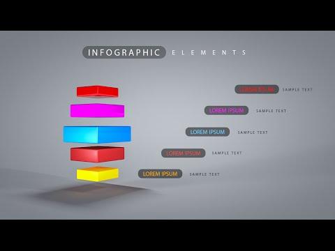 3D Graphic Design Infographic Photoshop Cinema 4D C4D Tutorial 05