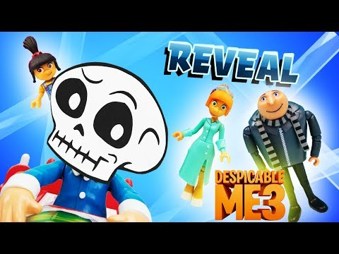 Thumbnail: Don't Wake Daddy Skeleton Mystery Game REVEAL! Gru, Agnes, Lucy, Hi-5, Minions & Skye! Learn Colors!
