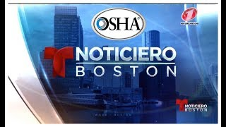 Rony Jabour hablando sobre osha training - TeleMundo Boston - MA