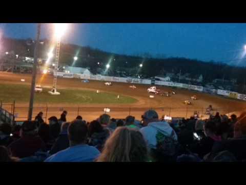 MSCS Sprint Car C Main Part 1/2  Lincoln Park Speedway