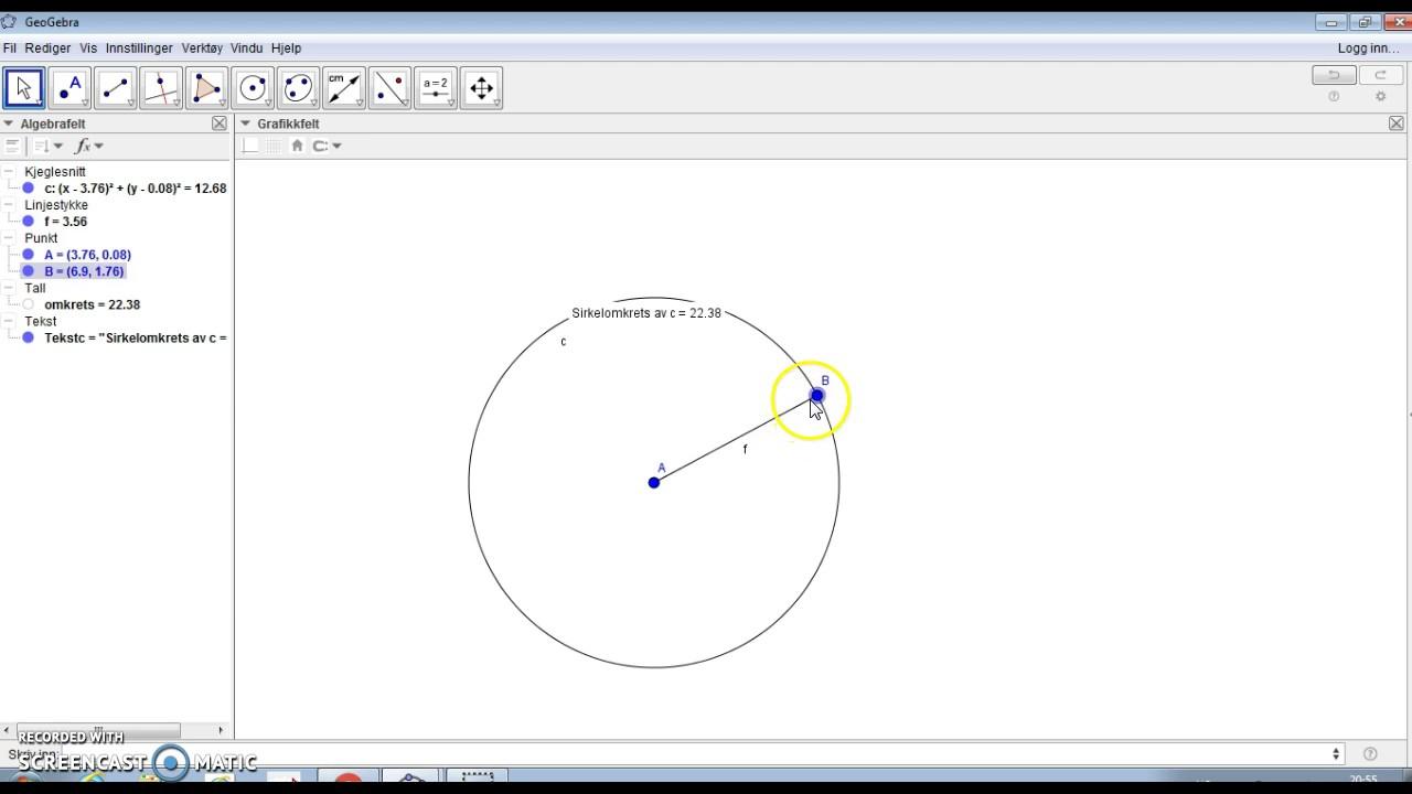 Hvordan finne omkrets av en sirkel