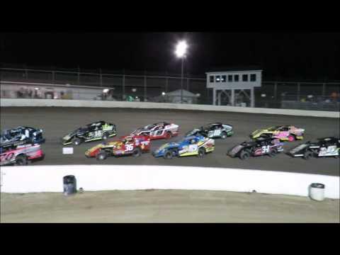 I 55 Raceway 9 3 2016 A Mod Heat Race #3 & Feature Dave Armstrong #34