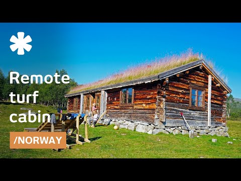 Norwegian abandoned remote turf house becomes cabin getaway