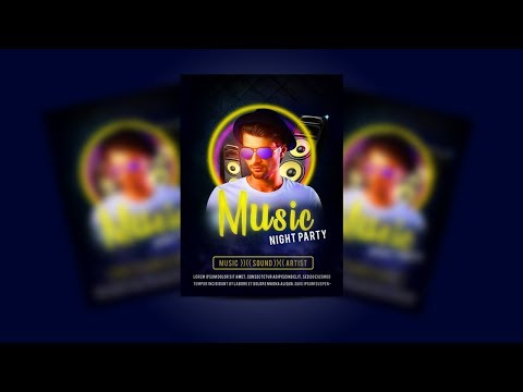How to Design a Music Party Flyer | Photoshop CC Tutorial thumbnail