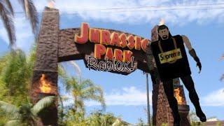 Roblox Jurassic Park Ride!! Roblox Universal! (Flashing lights and earhurt)