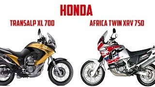 Honda Africa Twin vs HondaTransalp XL700 Cравнение