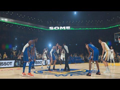 Golden State Warriors vs Oklahoma City Thunder - Full Game 16/10/2018 - NBA 2K19 - 동영상