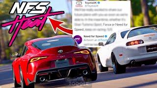 TOYOTA SUPRA doch in NEED FOR SPEED HEAT & FORZA ?? - Antwort von Toyota