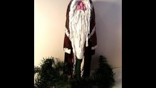 Papier mache FATHER CHRISTMAS SANTA FIGURE, HOW TO, DIY, MAKE IT, Recycling craft project