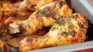Вкусная Запеченная курица с овощами! Простой и быстрый рецепт!