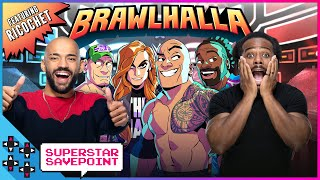 RICOCHET plays for the glory of BRAWLHALLA with WWE Superstars! - Superstar Savepoint