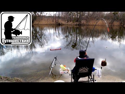 ловля на фидер ранней весной на реке оке