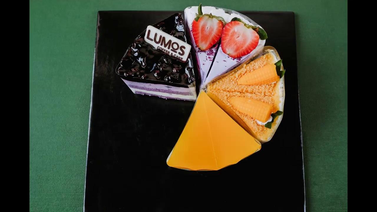 quay sản phẩm bánh ngọt ghép từ hình ảnh