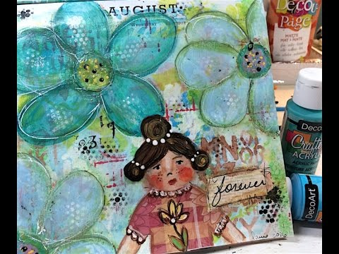 August Calendar Art Journal Page