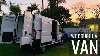 We Bought a Van! Ram ProMaster Van Build Conversion  Episode 1 | Jason Klunk