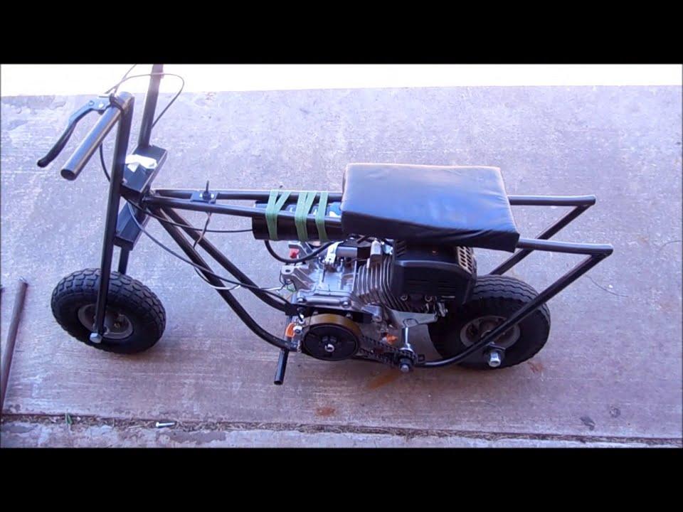 Diy Homemade Mini Bike 6 5hp No Governor Youtube