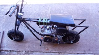 Diy Homemade Mini Bike 6.5hp No Governor