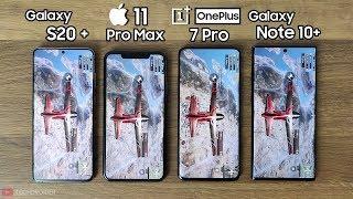 100% BATTERY DRAIN TEST - Galaxy S20 Plus vs iPhone 11 Pro Max / OnePlus 7 Pro / Note 10 Plus