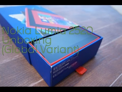 Nokia lumia 2520 Unboxing (Red -Global Variant) (MyNokiaBlog)