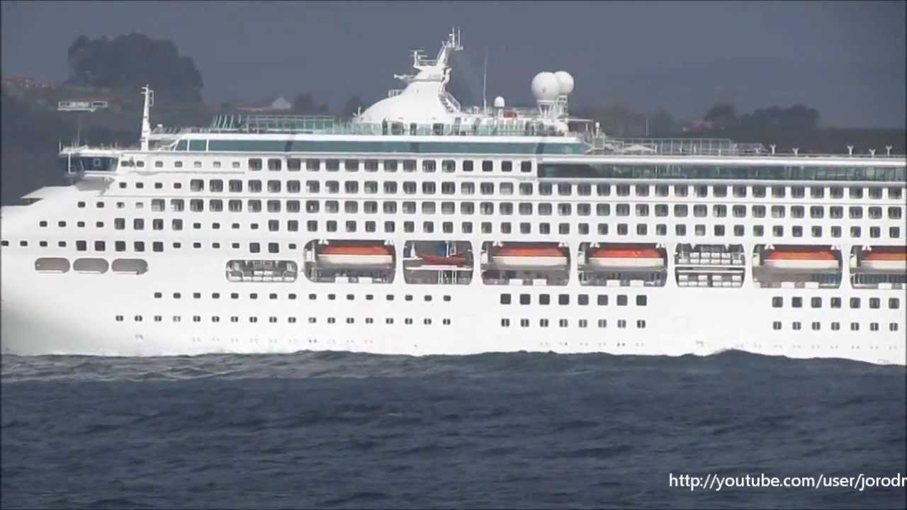 Cruise Ship OCEANA Leaving A Corua On 9 April 2013  YouTube