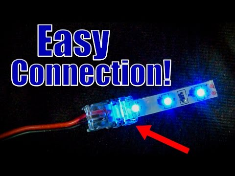 How to Connect LED strips to wires (using LED strip Connectors)