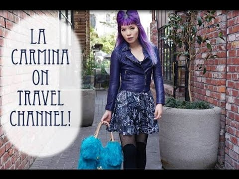 La Carmina hosting travel TV show on Travel Channel. House Hunters show, moving to Tokyo Japan