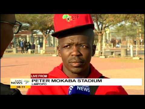 EFF supporters making their way to the Peter Mokaba Stadium for the final rally