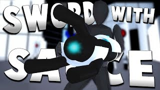 NINJA FINDS PORTAL GUN! - Workshop Levels - Sword With Sauce Alpha Gameplay