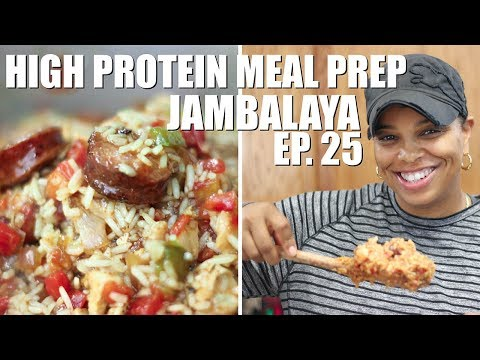 How to Make Jambalaya | High Protein Meal Prep | Chicken, Sausage and Shrimp, oh Boy!