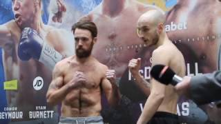 CARL CHADWICK v JAMES CARNEY - OFFICIAL WEIGH-IN VIDEO (& HEAD TO HEAD) / FROM HULL