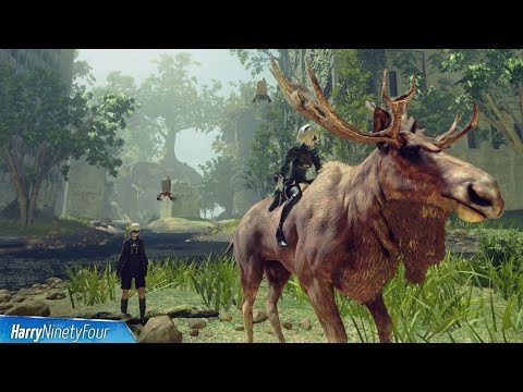 Nier Automata - How to Ride Animals (Animal Rider Trophy Guide)