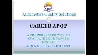 career apqp tutorial for automotive quality professionals