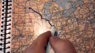 TRUCKING 101  Tips for new drivers.  Tracking your route and using a road atlas.