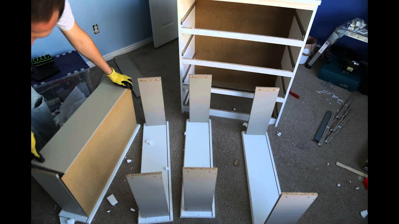 IKEA Malm Chest of Drawers assembly timelapse  YouTube