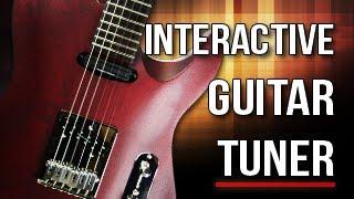 Interactive Guitar Tuner - (E A D G B e)