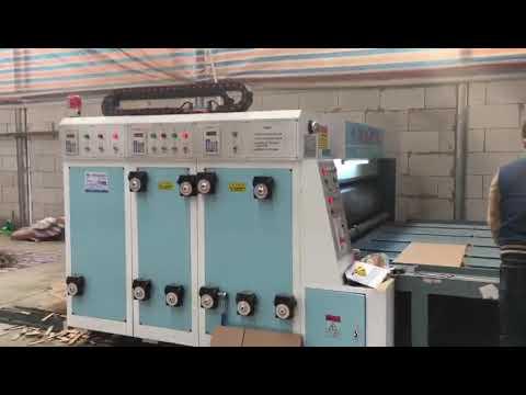 corrugated paperboard flexo printing ink printing slotting machine