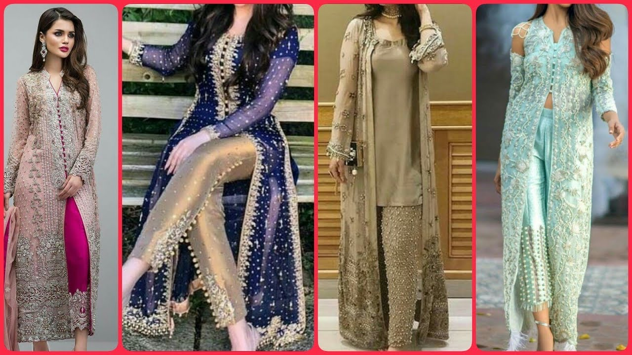 Affordable Stylish Beautiful Party Wear Fancy Long Gown With Cigarette Trouser Dress Designs 2019 Youtube,Affordable Plus Size Ivory Wedding Dresses
