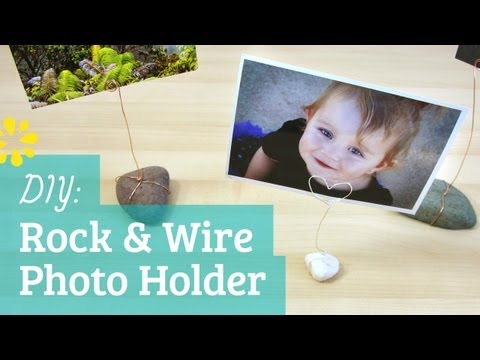 DIY Rock & Wire Photo Holders  Kin Collab  Sea Lemon