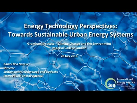Towards sustainable urban energy systems -  IEA Energy Technology Perspectives 2016