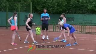 Групповая тренировка по большому теннису в Tennisteam.ru, июнь 2016