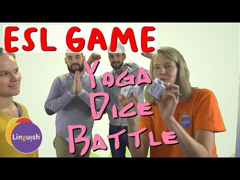 Linguish ESL Games // Yoga Dice Battle // LT152