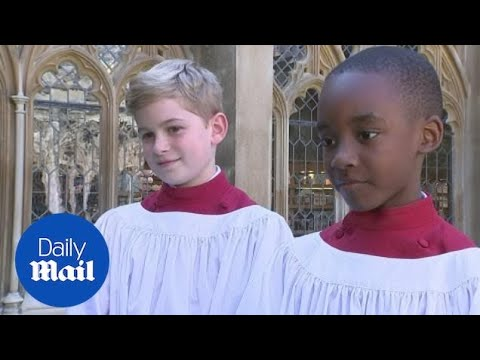 St George's Chapel Choir rehearse for Royal Wedding - Daily