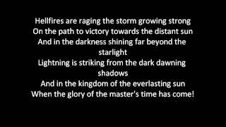 Dragonforce - Fury Of The Storm (lyrics)