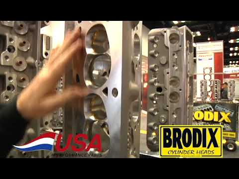The Brodix SBF 20 Degree Track 1 Raised Runner Cylinder Head From USA  Performance Parts