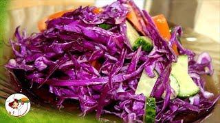 Салат из красной капусты. Очень быстро готовиться!