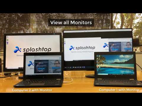 Viewing Multiple Monitors with Splashtop