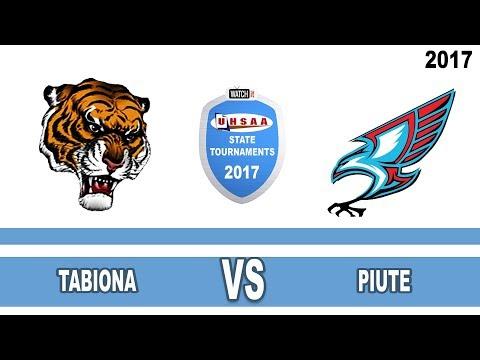 1A Girls Basketball: Tabiona vs Piute High School UHSAA 2017 State Tournament Round 1